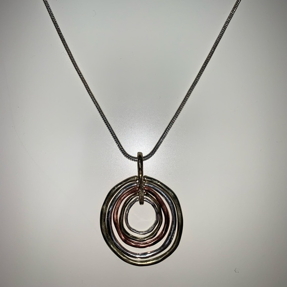 Jewelry - Gold, silver, and rose gold necklace